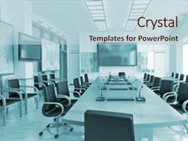 PPT layouts enhanced with conference room interior background and a lemonade colored foreground.