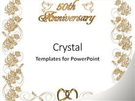 50th wedding anniversary powerpoint templates | crystalgraphics, Modern powerpoint