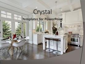 Furniture powerpoint templates crystalgraphics presentation featuring furnishing design kitchen in luxury image and a light gray colored foreground toneelgroepblik Gallery