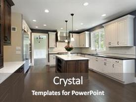 Island powerpoint templates crystalgraphics a presentation with island design kitchen in remodeled background and a dark gray colored toneelgroepblik Gallery