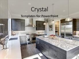 Island powerpoint templates crystalgraphics ppt having grey design modern gray kitchen backdrop and a light gray colored foreground toneelgroepblik Gallery