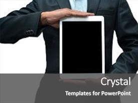 Apple inc powerpoint templates crystalgraphics slide deck featuring developed by the background and a dark gray colored foreground toneelgroepblik Image collections