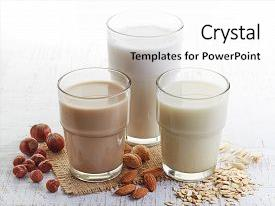 Milk powerpoint templates crystalgraphics cool new slide deck with different vegan almond backdrop and toneelgroepblik Images