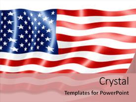 American flag powerpoint templates crystalgraphics crystal powerpoint template with digital art of american flag themed background and a coral colored foreground toneelgroepblik Image collections