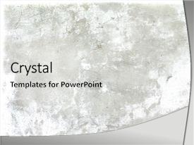 <b>Crystal</b> PowerPoint template with digital background - photo of grugy old wal themed background and a light gray colored foreground design featuring a [design description].