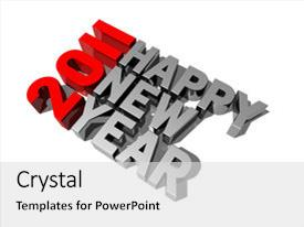 Theme consisting of dimensional 2011 happy new year background and a light gray colored foreground.