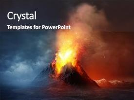volcano powerpoint templates | crystalgraphics, Modern powerpoint