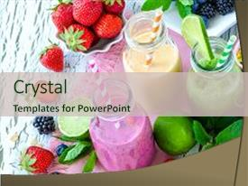 yogurt fruits powerpoint templates   crystalgraphics, Presentation templates