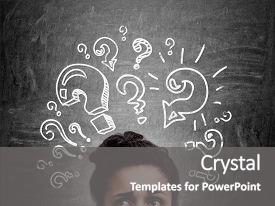 Questions answers powerpoint templates crystalgraphics beautiful ppt with education confused african american woman background and a gray colored foreground toneelgroepblik Choice Image