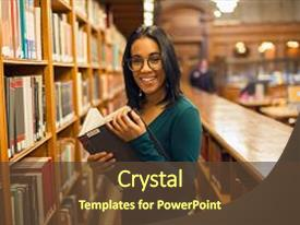 College powerpoint templates crystalgraphics cool new slide deck with education happy smiling african american backdrop and a tawny brown toneelgroepblik Choice Image