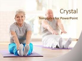 Elderly powerpoint templates crystalgraphics crystal powerpoint template with elderly patients training in rehabilitation themed background and a cream colored foreground toneelgroepblik Image collections