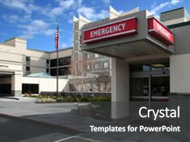 Medical emergency powerpoint templates crystalgraphics colorful slides enhanced with emergency room at the hospital backdrop and a dark gray colored foreground toneelgroepblik Images