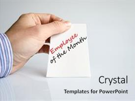 Employee recognition stars powerpoint templates crystalgraphics crystal powerpoint template with employee of the month text themed background and a white colored foreground toneelgroepblik Gallery
