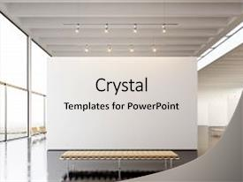 Museum powerpoint templates crystalgraphics a ppt with museum empty canvas hanging contemporary art background and a light gray colored toneelgroepblik Gallery