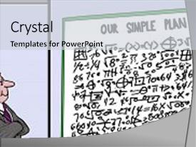 I love this presentation with equations and titled our simple background and a light gray colored foreground.