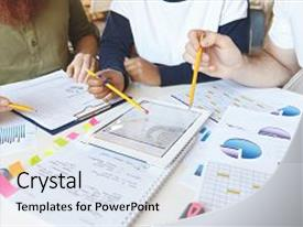 Multicultural education powerpoint templates crystalgraphics a presentation with experts working together on business background and a light gray colored foreground toneelgroepblik Images