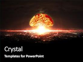 Explosion powerpoint templates crystalgraphics crystal powerpoint template with explosion of nuclear bomb themed background and a black colored foreground design toneelgroepblik Images