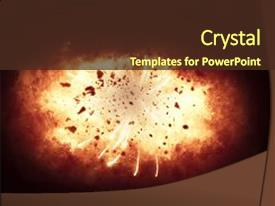 Explosion powerpoint templates crystalgraphics crystal powerpoint template with explosion on black background themed background and a tawny brown colored foreground toneelgroepblik Images