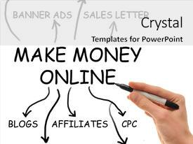 Audience pleasing slide deck consisting of internet marketing - extremely popular make money online backdrop and a white colored foreground.