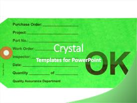 Quality control powerpoint templates crystalgraphics presentation theme enhanced with factory s quality department ok background and a shamrock green colored foreground toneelgroepblik Images