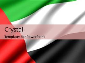 Uae flag powerpoint templates crystalgraphics slide set featuring flag of united arab emirates image and a coral colored foreground toneelgroepblik Gallery