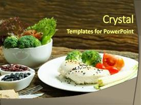 powerpoint template: healthy recipes big pretty healthy fresh and, Modern powerpoint
