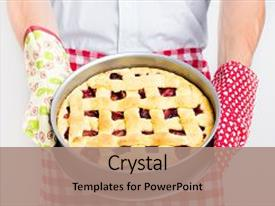 Pie powerpoint templates crystalgraphics slide set having baking freshly baked fresh fruit backdrop and a coral toneelgroepblik Images