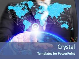 Global education powerpoint templates crystalgraphics presentation enhanced with global business conceptual and finance theme and a ocean colored foreground toneelgroepblik Gallery