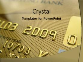 Beautiful presentation featuring golden credit card close up backdrop and a coral colored foreground.