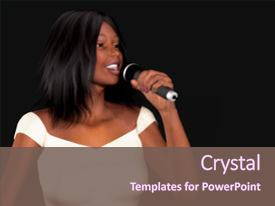Gospel concert powerpoint templates crystalgraphics audience pleasing theme enhanced with young beautiful black woman singing theme and toneelgroepblik Image collections