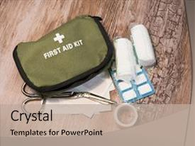 Army medicine powerpoint templates crystalgraphics crystal powerpoint template with army medicine green first aid kit themed background and a mint toneelgroepblik Image collections