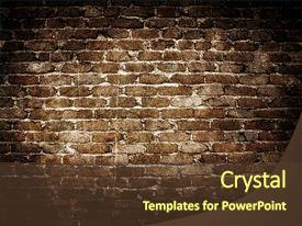 Beautiful presentation featuring grunge brick wall background backdrop and a tawny brown colored foreground.