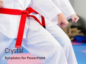 Martial arts powerpoint templates crystalgraphics crystal powerpoint template with gym in martial arts themed background and a lemonade colored foreground design toneelgroepblik Image collections