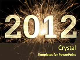 Presentation design with happy new year 2012 background and a tawny brown colored foreground.