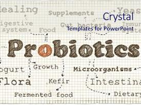 Bacteria yeast powerpoint templates crystalgraphics a slide set with bacteria yeast health illustration about probiotics background and a sky toneelgroepblik Images
