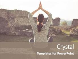 Meditation powerpoint templates crystalgraphics audience pleasing slide set enhanced with health yoga and concept theme and toneelgroepblik Images