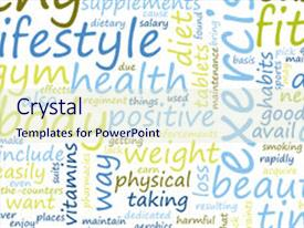 Healthy lifestyle powerpoint templates crystalgraphics cool new slide deck with through fitness backdrop and a sky blue colored toneelgroepblik Image collections