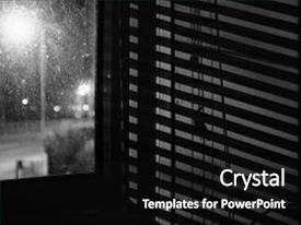 powerpoint template: depiction of financial crisis with big losses, Presentation templates