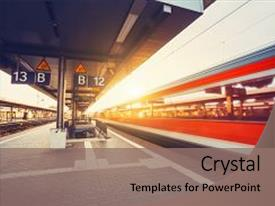 Railway powerpoint templates crystalgraphics slide set consisting of railway high speed red passenger train background and a coral colored toneelgroepblik Images