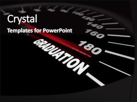 Higher education powerpoint templates crystalgraphics slide deck featuring higher education speedometer showing the needle pushing image and a black colored toneelgroepblik Choice Image