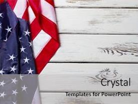 Democracy powerpoint templates crystalgraphics crystal powerpoint template with democracy history crumpled american flag themed background and a light toneelgroepblik Gallery