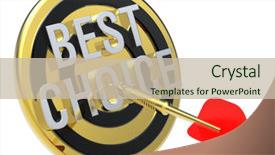 Presentation consisting of hit target - concept of selecting a good background and a soft green colored foreground.