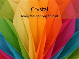 PowerPoint with honeycomb rainbow background and a gold colored foreground.
