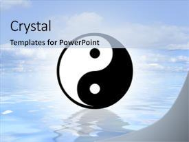 Powerpoint template yin and yang symbol in illuminated dark blue bcrystalb powerpoint template with illustrated yin yang symbol themed toneelgroepblik Gallery
