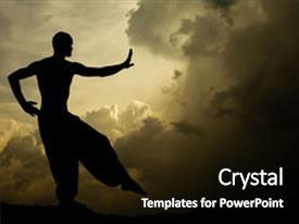 Martial arts powerpoint templates crystalgraphics crystal powerpoint template with image of a martial arts themed background and a black colored foreground toneelgroepblik Image collections