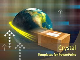 Import export powerpoint templates crystalgraphics colorful ppt theme enhanced with import export fast package delivery backdrop and a tawny brown toneelgroepblik Gallery