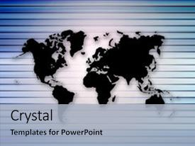 Import export powerpoint templates crystalgraphics ppt layouts with import export silhouette universal map on blue background and a light blue toneelgroepblik Gallery