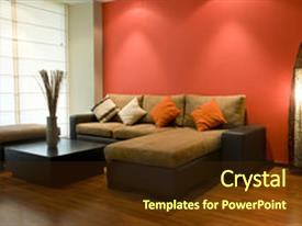 Interior design powerpoint templates crystalgraphics amazing presentation theme having interior design backdrop and a tawny brown colored foreground toneelgroepblik Images