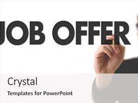 Job powerpoint templates crystalgraphics cool new presentation theme with offer backdrop and a white colored foreground toneelgroepblik Gallery