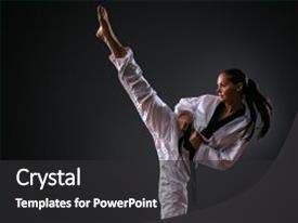 karate powerpoint templates | crystalgraphics, Presentation templates